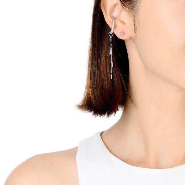 點睛品 Ear Play 18K橄欖型垂吊耳飾