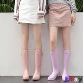 【貝貝】防水雨鞋 果凍雨鞋 時尚款 外穿水靴 水鞋 可愛雨靴 防滑膠鞋