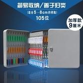 固盾鑰匙箱壁掛式密碼房產鑰匙柜汽車鑰匙盒收納盒管理箱48/120位
