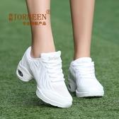 廣場舞鞋水兵爵士網面夏季舞蹈鞋女成人廣場舞跳舞女鞋子軟底白色