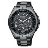 CITIZEN 星辰 限量款光動能GPS衛星對時錶鈦金屬腕錶-黑 CC9075-52F