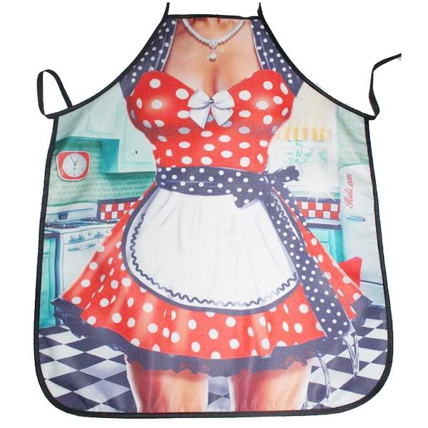 【BlueCat】紅藍點點美少女廚娘圍裙