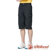 【wildland 荒野】男 彈性抗UV貼袋七分褲『夜空灰』0A91370 戶外 休閒 運動 露營 登山 騎車