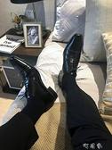 男士佐印商務襪全棉皮鞋黑襪中長筒透氣西裝純色襪紳士性感潮薄款 【快速出貨】