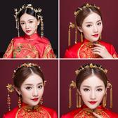 新娘頭飾中式鳳冠結婚古裝發飾套裝2018新款秀禾和服龍鳳褂配飾品