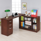 【Hopma】百變活動書桌櫃組/工作桌-胡桃木
