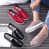 時尚雨鞋女成人低幫淺口廚房防水鞋厚底短筒防滑工作膠鞋韓版水靴 童趣屋  新品