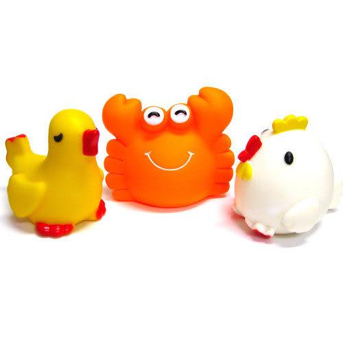 【奇買親子購物網】藝寶 動物洗澡玩具組(鴿/雞/蟹)