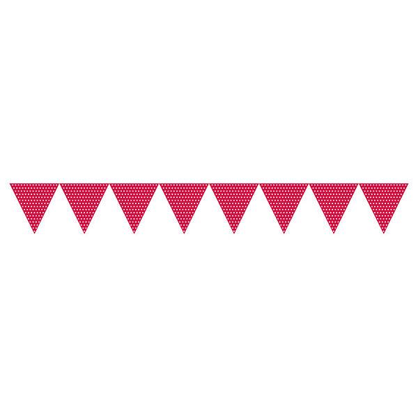 三角旗-點點蘋果紅