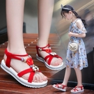 女童涼鞋 2020新款時尚網紅爆款兒童小公主軟底夏中大童小女孩涼鞋【快速出貨】