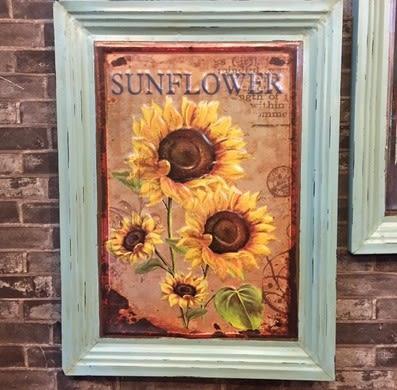 [協貿國際]   太陽花壁掛咖啡廳牆上裝飾畫  (1入)