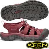 KEEN 1018819酒紅 NewPort Eco 女戶外護趾涼鞋 水陸兩用溯溪鞋/運動健走鞋/沙灘戲水拖鞋