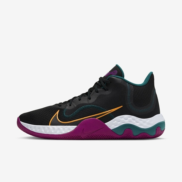 Nike Renew Elevate [CK2669-005] 男鞋 運動 籃球 支撐 抓地力 舒適 穩定 靈敏 黑 金