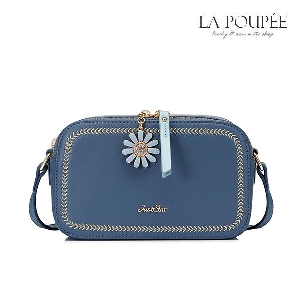 側背包 小清新雛菊鍊頭相機包/小方包 2色-La Poupee樂芙比質感包飾 (現貨+預購)