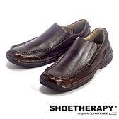 SAPATOTERAPIA 巴西輕便有機素面直套皮鞋-咖