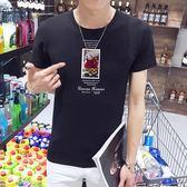 短袖T恤 夏裝韓版個性圓領時尚休閒衣服潮流男裝《印象精品》t29