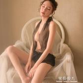情趣內衣服性感透視裝SM三點式開檔小胸睡裙激情夜店制服用品套裝  完美情人館 YXS