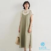 ~Summer ~~SET ITEM ~側綁結細肩帶洋裝素面短袖連身洋裝earth mus