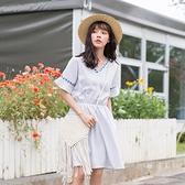 連身裙-V領優雅民族風時尚氣質女連衣裙2色73rx32[巴黎精品]