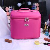 化妝包收納包大容量手提專業旅行化妝箱便攜多功能收納箱帶肩帶 時尚潮流