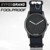 "Hypergrand新加坡設計師品牌01基本款系列""INHIBITION""FOOLPROOF黑白手繪腕錶NW01FOOL"