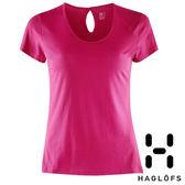 Haglofs 女 APEX 圓領有機棉 短袖T恤『火山紅』602454