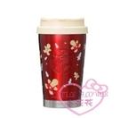 ♥小花花日本精品♥ 星巴克聖誕節限定聖誕紅色保溫杯酒紅色保溫杯杯子保溫瓶01023800