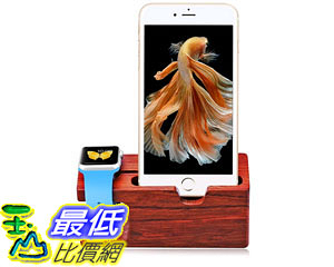 [105美國直購] 充電座 Aerb Rose Wood Charging Stand Bracket Docking Station Stock iPhone Apple Watch 38mm 42mm yc0179