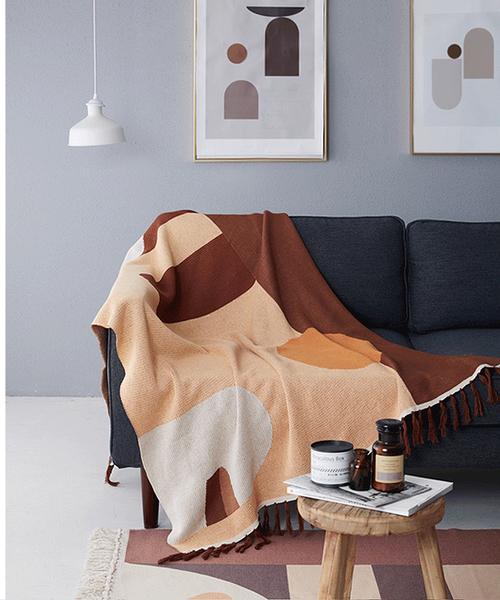 北歐純色緹花沙發巾 沙發布 全蓋沙發套 沙發墊 防塵布 線毯31 (130*160cm)