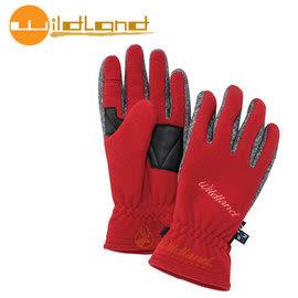 丹大戶外【Wildland】荒野 中性防風保暖翻指手套 0A32003-08 紅色