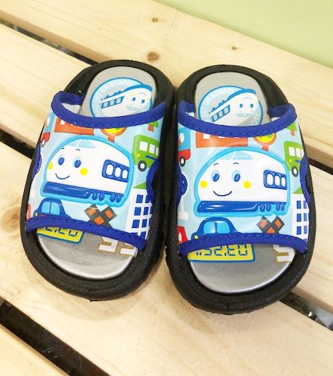 【震撼精品百貨】Shin Kan Sen 新幹線~台灣製正版兒童拖鞋-銀底藍色(13~18號)#12445
