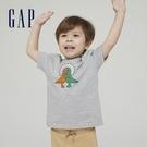 Gap男幼童 Gap x Ken Lo 藝術家聯名系列純棉短袖T恤 854744-淺麻灰