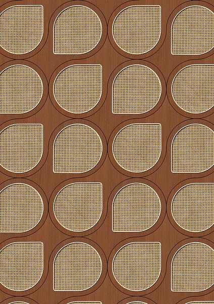 編織紋 藤編織圖案 木紋壁紙 仿真 荷蘭壁紙 5色可選 NLXL CANE WEBBING / VOS-11