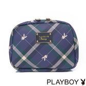 PLAYBOY- Apple 蘋果兔系列 化妝包-皇家藍