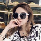 太陽鏡-女潮韓版海邊度假大框白色偏光墨鏡 花間公主