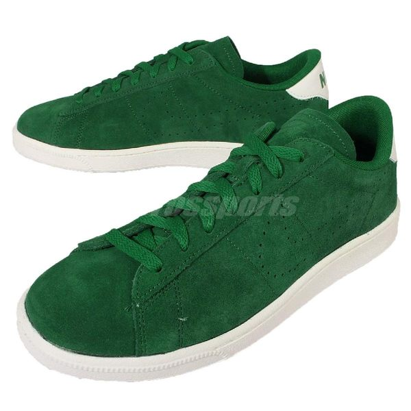 【六折特賣】Nike 休閒鞋 Tennis Classic CS Suede 綠 白 麂皮 復古網球鞋 男鞋 【PUMP306】 829351-300