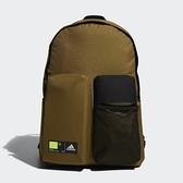 Adidas 咖啡綠色多口袋實用運動後背包-NO.GN9876