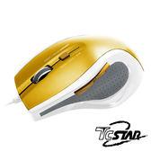 T.C.STAR USB有線藍光光學滑鼠TCN187 (金色)