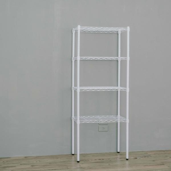 收納架/置物架/層架  60x30x180公分四層烤漆白鐵架  dayneeds