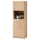 【森可家居】多莉絲2尺玄關收納櫃 (單只-編號2) 8ZX569-3 鞋櫃 客廳收納 木紋質感 北歐 無印風 餐櫃