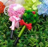 婚禮用品~~捧花.花椰菜簽名筆/一對(黑色筆心)~~