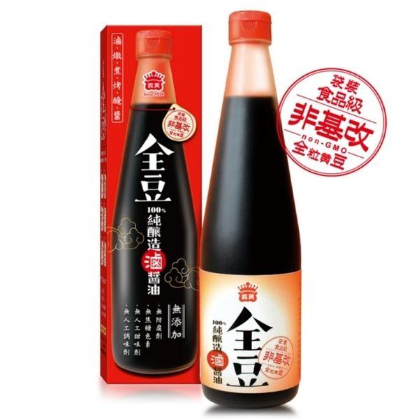 義美全豆純釀造滷醬油520ml(非基因改造)