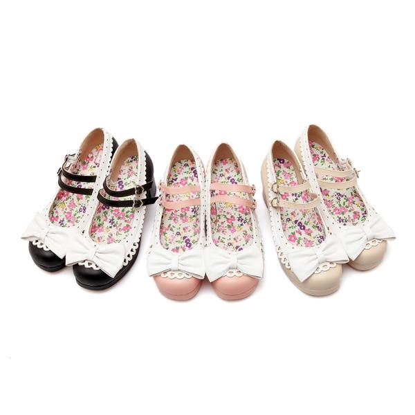 韓系甜美蕾絲花邊愛心扣環設計厚底高跟包鞋/3色/35-39碼 (RX0027-S-36) iRurus 路絲時尚