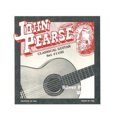凱傑樂器 John Pearse 美製古典吉他弦 銀弦 一般張力 #1100 (28-43)