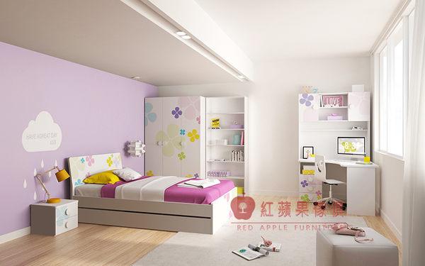 [紅蘋果傢俱] AKW010 兒童家具 單人床 兒童床 床架 床台 4尺/5尺床 床組 防刮耐磨漆(免組裝費)