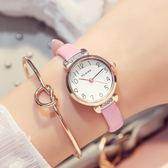 中小學生手錶女韓版簡約數字細帶可愛小錶盤女生兒童考試女孩防水