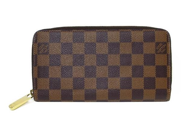 LV LOUIS VUITTON 路易威登 棋盤格ㄇ字拉鍊長夾 Zippy Wallet N60015【BRAND OFF】