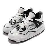 Nike 籃球鞋 Air Jordan 4 Retro SE DIY TD 白 黑 童鞋 經典款 喬丹 小童鞋 AJ4 【ACS】 DC4102-100