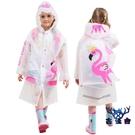 兒童雨衣雨披帶書包位充氣帽檐環保無味男女童寶寶【古怪舍】