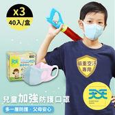 【天天X早安健康-兒童加強防菌口罩】每盒40入 3盒販售 早安健康聯名款